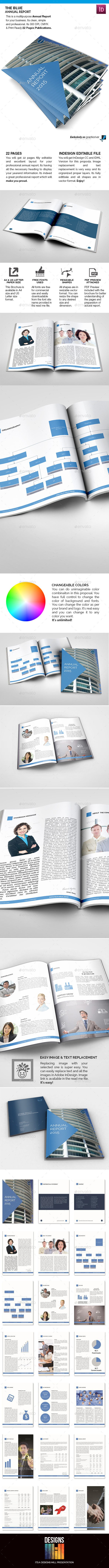 GraphicRiver The Blue Annual Report 9149949