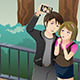 Couple Taking a Selfie Picture of Themselves - GraphicRiver Item for Sale