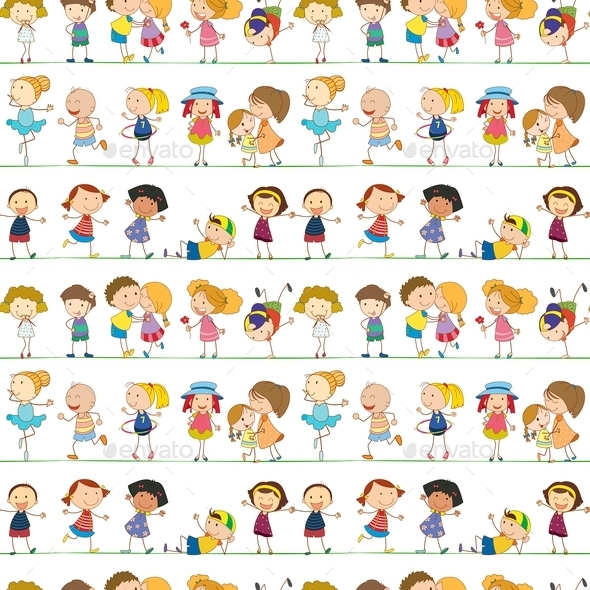 GraphicRiver Seamless Children 9150362