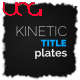 Kinetic Title Plates - VideoHive Item for Sale