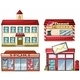 A School, Donut Store, Sport Shop and a Post Office - GraphicRiver Item for Sale