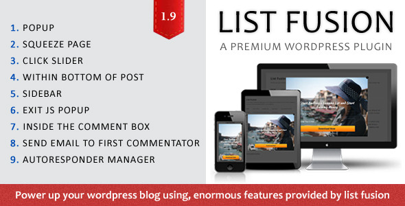 LIST FUSION : If there is any tool that can give you unlimited opportunities to attract visitors, grab subscribers and eventually get money-paying customers, IT