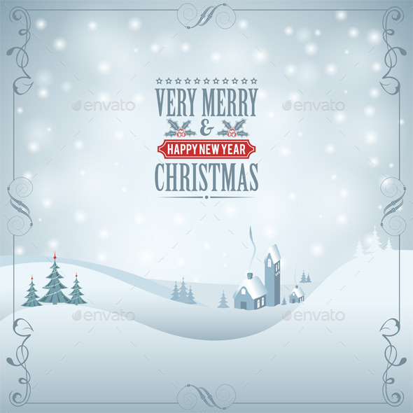 GraphicRiver Christmas Background 9150612