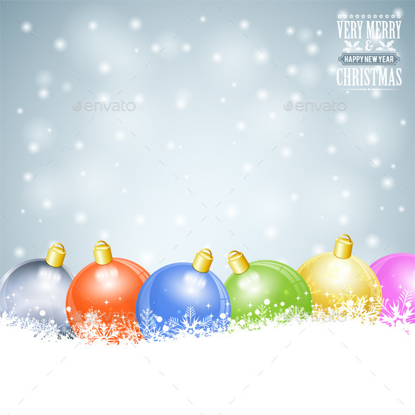 GraphicRiver Christmas Background 9150623
