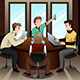 Young Businessmen with Their Electronic Gadgets - GraphicRiver Item for Sale