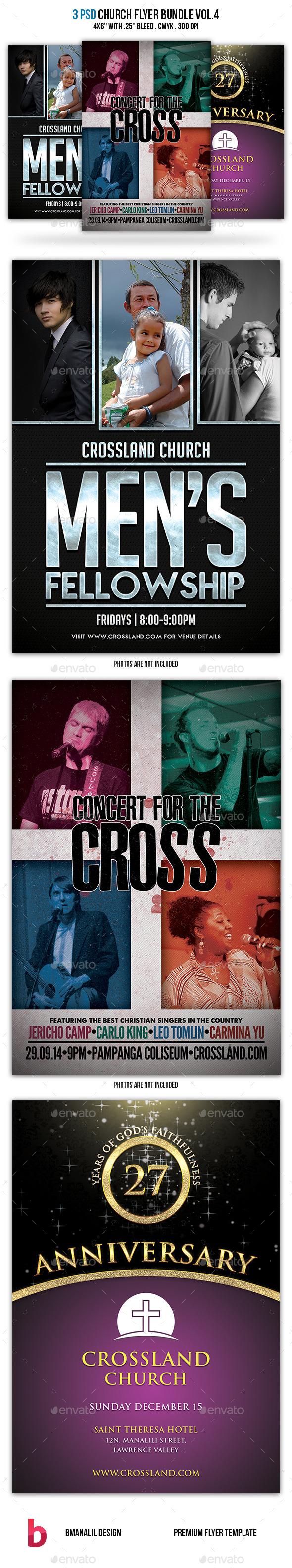 GraphicRiver Church Flyer Bundle Vol.4 9150751