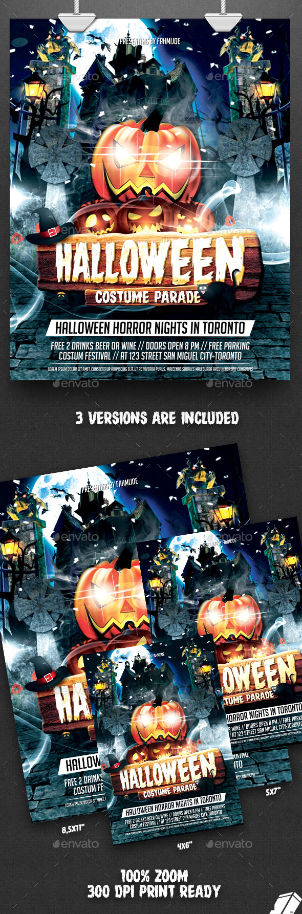 GraphicRiver Halloween Flyer Costume Parade 9150820