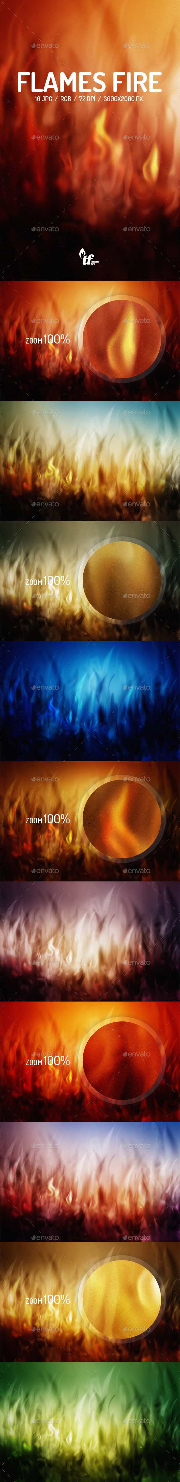 GraphicRiver Flames Fire Backgrounds 9150833