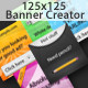 125x125 Banner Creator  (inc. 32 elements) - GraphicRiver Item for Sale