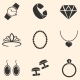 Vector Set of Jewellery Icons - GraphicRiver Item for Sale
