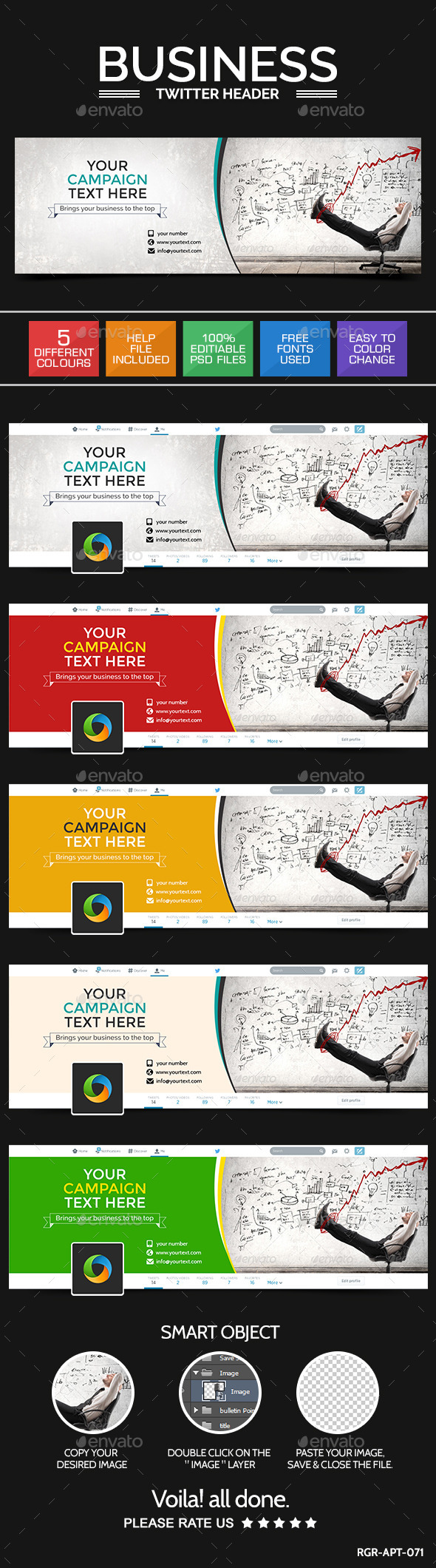 GraphicRiver Business Twitter Header 9150858