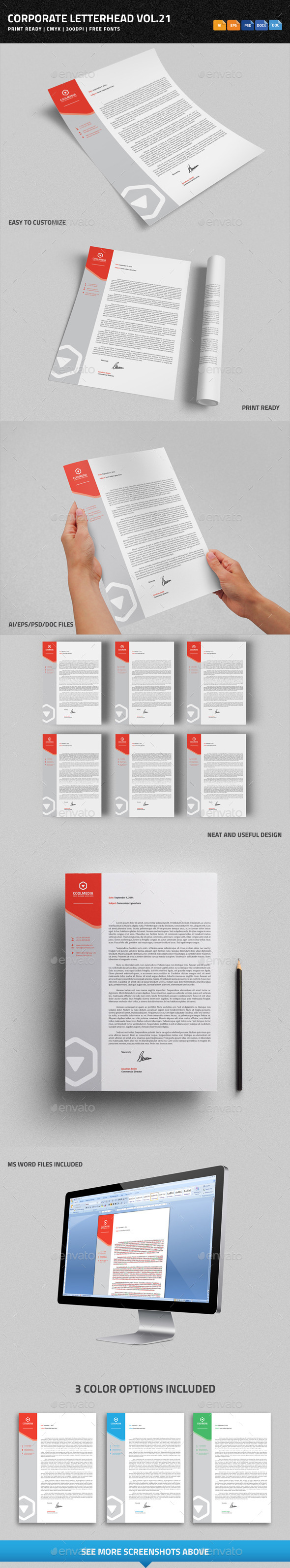 GraphicRiver Corporate Letterhead vol.21 with MS Word DOC DOCX 9137957