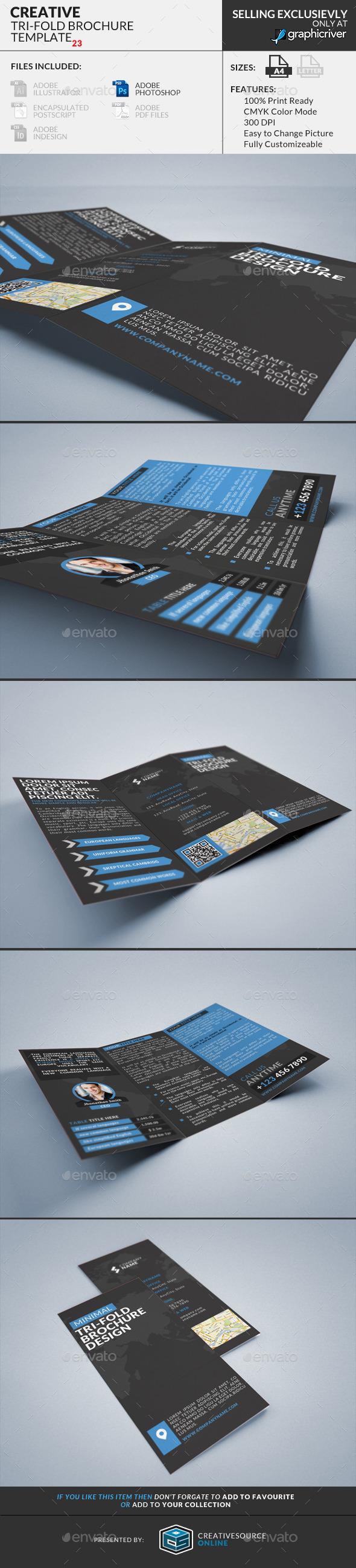 GraphicRiver Trifold Brochure 24 Minimal Creative 9151613