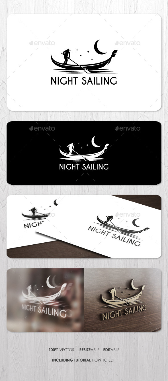 GraphicRiver Night Sailing Logo 9151964