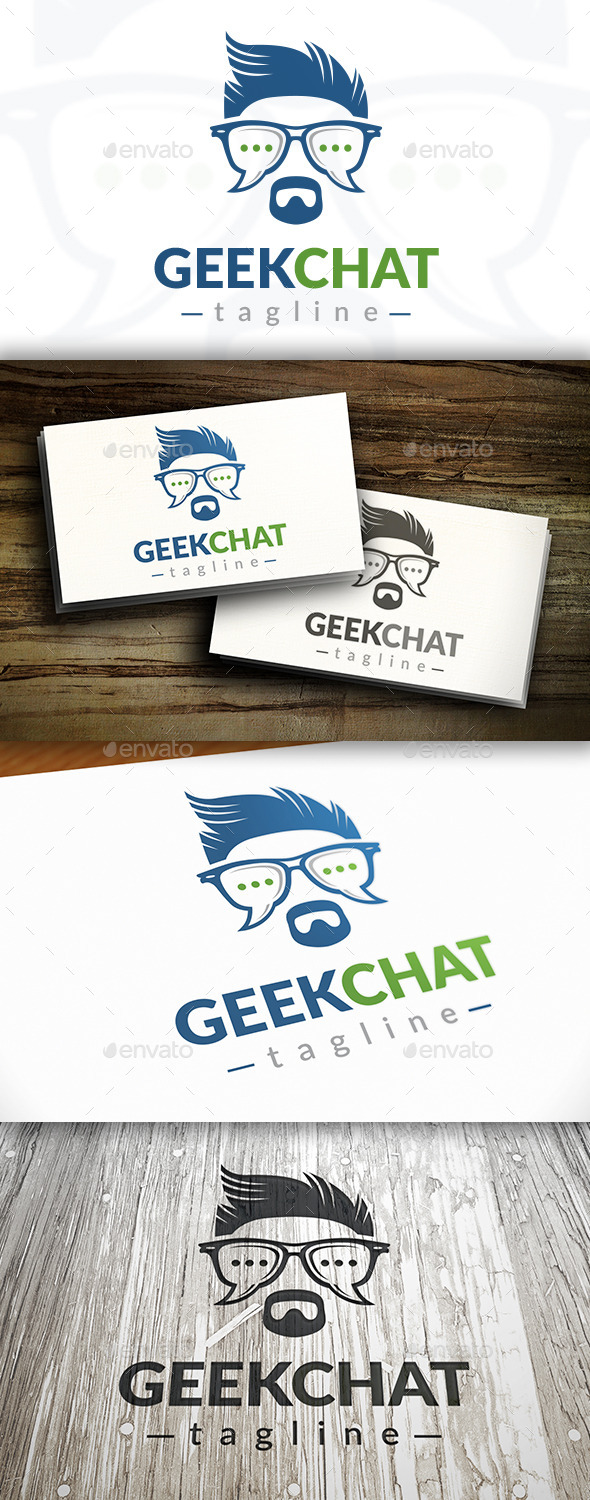 GraphicRiver Geek Chat Logo Template 9152014