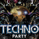 Abstract Electro Techno Party Night With Dj - GraphicRiver Item for Sale
