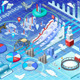 Isometric Infographic Ice Fishing Set - GraphicRiver Item for Sale
