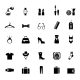 Assortment of Black Clothing and Accessory Icons - GraphicRiver Item for Sale