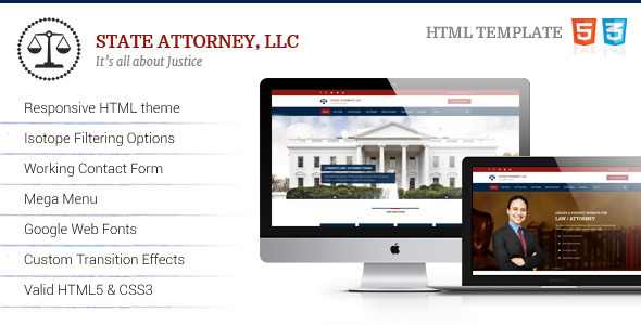 Attorney & Law Lawyers HTML Template