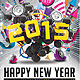 2015 Happy New Year Flyer Template - GraphicRiver Item for Sale