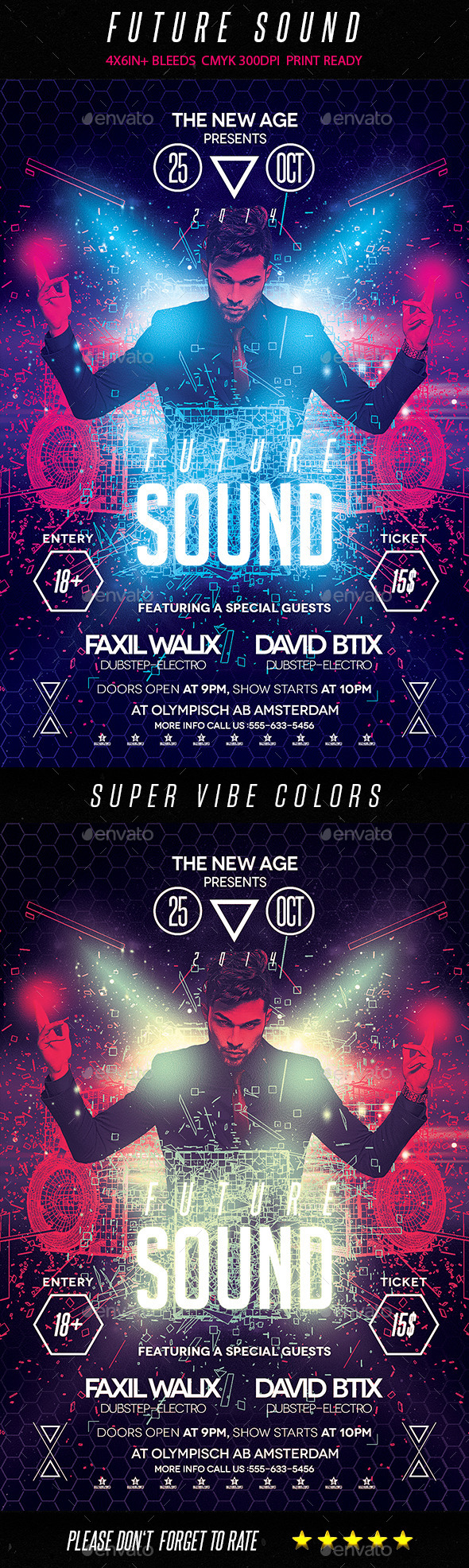 GraphicRiver Future Sound Flyer 9152862