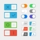 Toggle Switch Icons - GraphicRiver Item for Sale