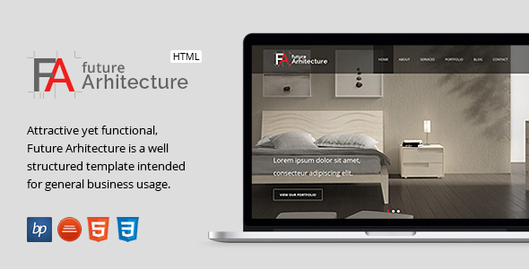 Future Architecture v2 - Responsive HTML Template - Business Corporate