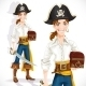 Cute Pirate with Cutlass and Chest - GraphicRiver Item for Sale
