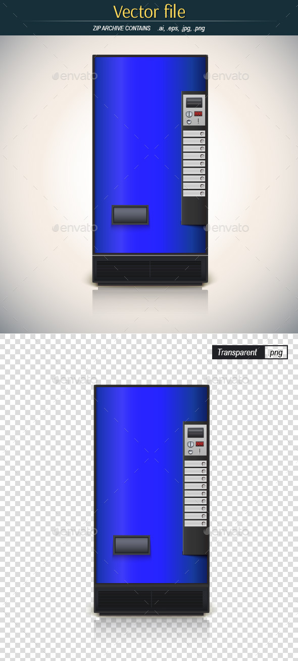 GraphicRiver Blue Vending Machine 9153780