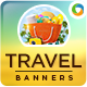 Travel & Tourism Web Banner Design Set - GraphicRiver Item for Sale