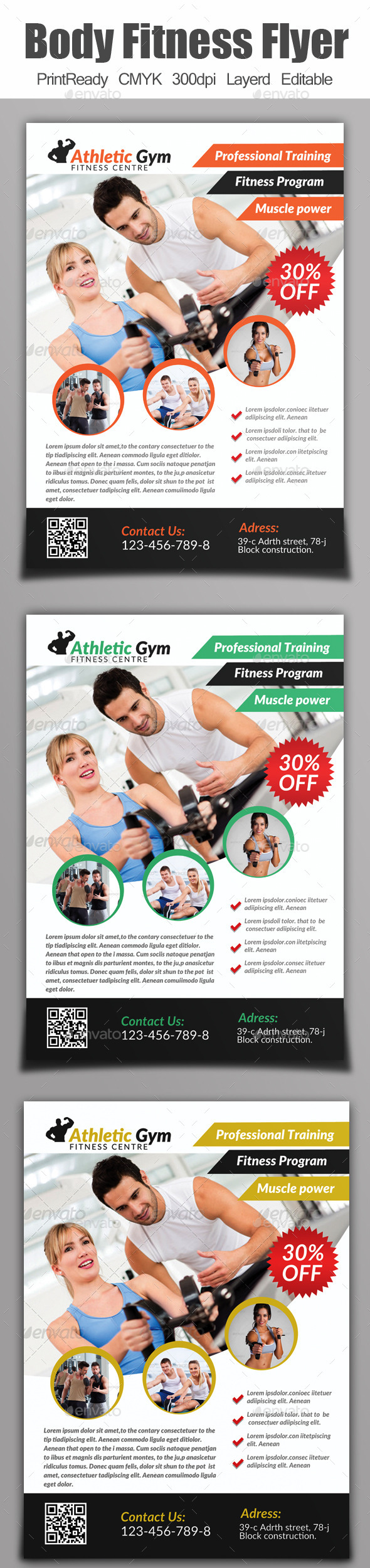 GraphicRiver A4 Body Fitness Flyer 9154233