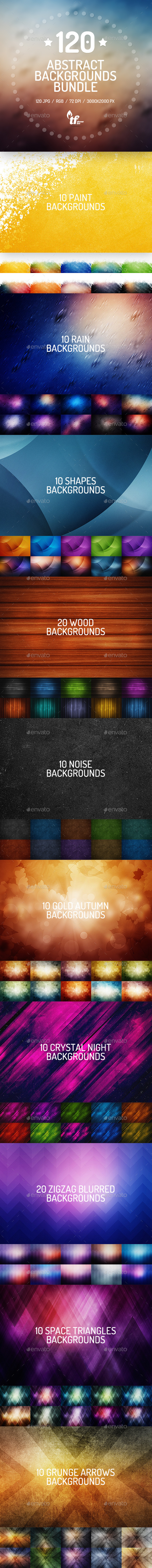 GraphicRiver 120 Abstract Backgrounds Bundle 9154361