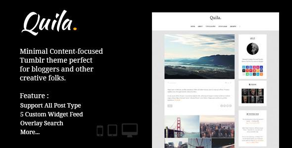 Quila | Clean Content-Focused Tumblr Theme - Blog Tumblr