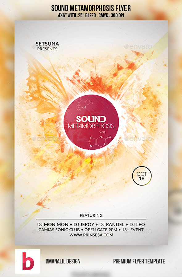 GraphicRiver Sound Metamorphosis Flyer 9154418