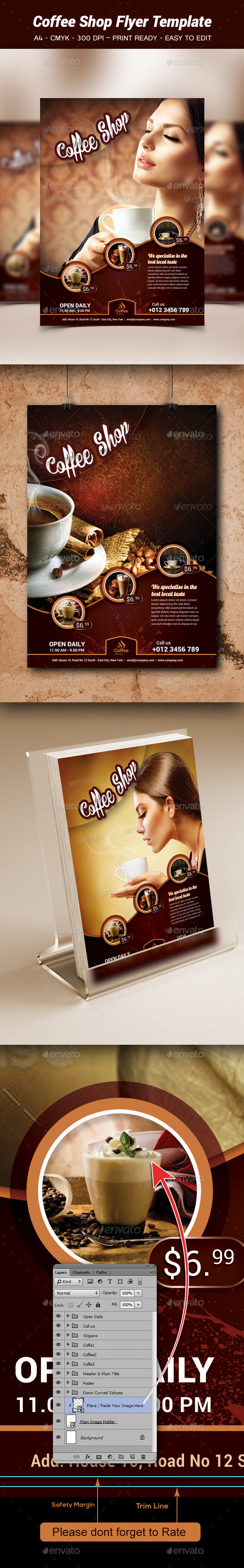 Coffe Shop Flyer Template