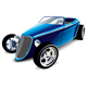Blue Hot Rod - GraphicRiver Item for Sale