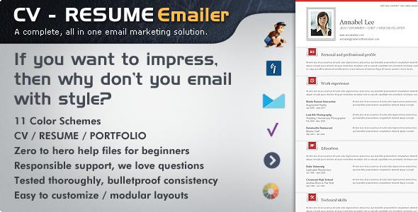 CV Folio - Resume/Portfolio Email Newsletter