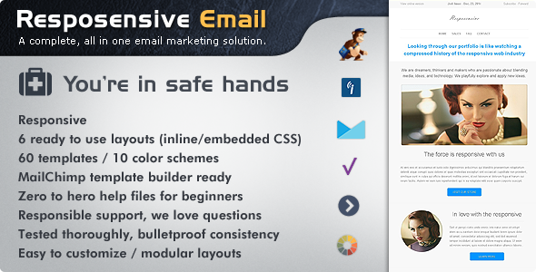 Resposensive - Responsive Email Templates - Email Templates Marketing