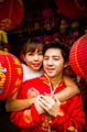 Lovely couple with red paper chinese lantern in Chinese suit4 - PhotoDune Item for Sale