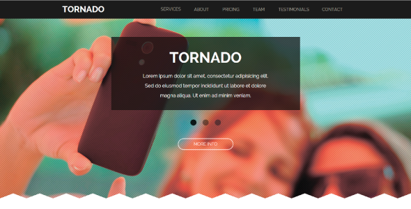 ThemeForest Tornado One Page Parallax Muse Template 9085375