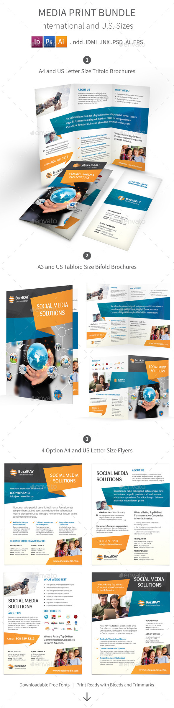 GraphicRiver Media and Communication Print Bundle 9154983