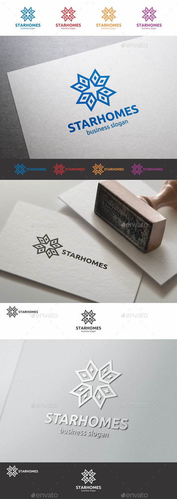 GraphicRiver Star Homes Construction Logo 9155012