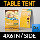 Restaurant and Cafe Table Tent Template - GraphicRiver Item for Sale