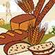 Baked Bread Advertising Illustration - GraphicRiver Item for Sale