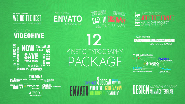 12 Kinetic Typography Package