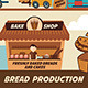 Bread Production Stages - GraphicRiver Item for Sale