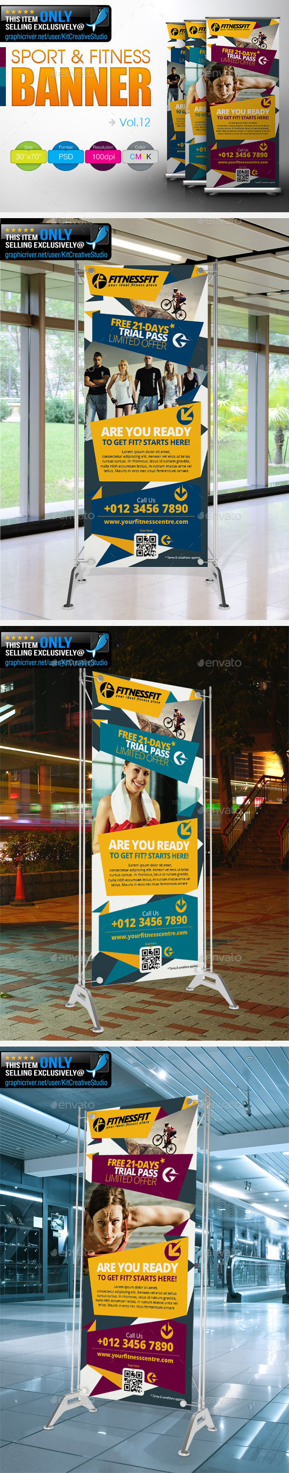 GraphicRiver Fitness Banner Vol.12 9155490