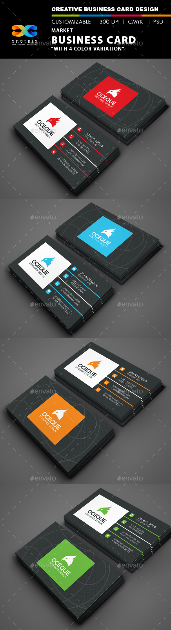 GraphicRiver Market Business Card 9156261