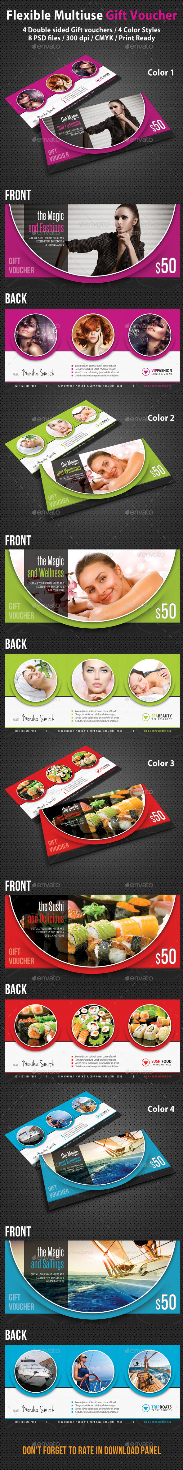 GraphicRiver Flexible Multiuse Gift Voucher 9156309