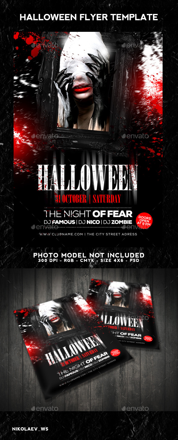 GraphicRiver Halloween Flyer 9156524